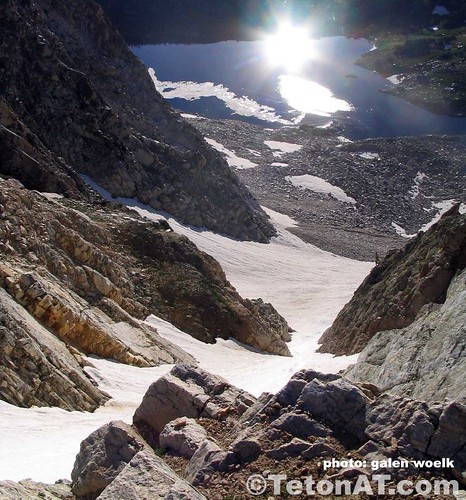 Looking down Airline Couloir in the Snow Range