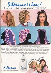 1980's Silience Shampoo (twitchery) Tags: vintage hair feather shampoo 80s 70s conditioner blowdryer vintageads vintagebeauty