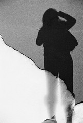 self portrait (b.l.d.) Tags: california sea film monochrome autoritratto eureka