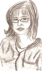 Self Portrait - Tina (tjbembry) Tags: selfportrait art drawing charcoaldrawings