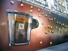 Nespresso Champs - Paris (France) (Meteorry) Tags: paris france coffee caf shop wall store europe boutique opening mur caff champselyses openingsoon nestl ouverture nespresso flagship flagshipstore meteorry avenuedeschampselyses