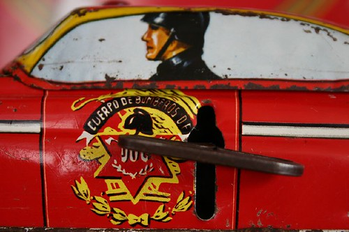 Carro de cuerda, hierro forjado, cuerpo de bomberos
