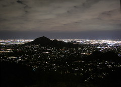 Camelback Mountain at Night with low clouds (Al_HikesAZ) Tags: arizona sky phoenix skyline night clouds 1025fav lights cloudy hiking hike explore citylights soe camelbackmountain camelback paradisevalley peak2429 azwexplore anawesomeshot azhike alhikesaz intphoenix
