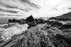 atlantic (richietown) Tags: ocean sea blackandwhite bw topf25 topv111 canon coast rocks stock maine rocky atlantic getty coastline atlanticocean 30d sigma1020mm blueribbonwinner richietown bestof2007
