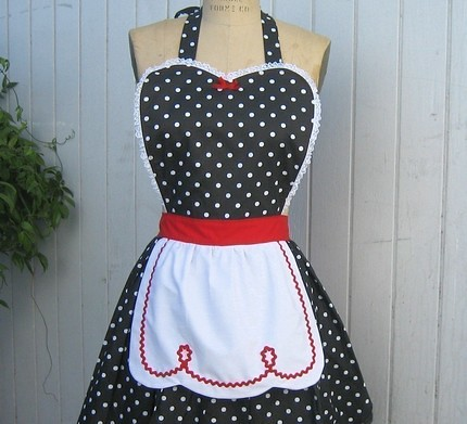 vintage apron retro apron i love lucy