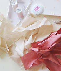 Silk Flower Necklace DIY -Materials (...love Maegan) Tags: diy accessories doityourself pearlnecklace flowernecklace ribbonnecklace necklacediy easydiys prettyinpinknecklaces