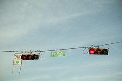 (rachelakelso) Tags: lights traffic wires redlight signal gilcrease canonrebelt2i