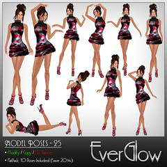 *EverGlow* - New poses! (``* Fanny Willis *) Tags: fashion secondlife wy everglow pinkoutfitters kalnins fannywillis lelutka