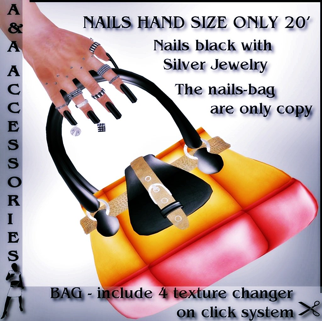 A&A Fashion Accessories Nails with Bag