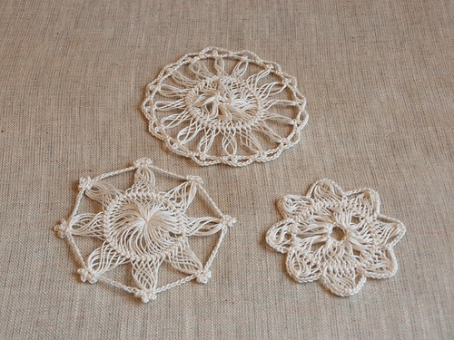 Hairpin lace doily