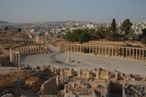 Roman ruins at Jerash