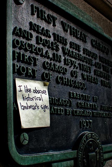I like obscure historical landmark signs