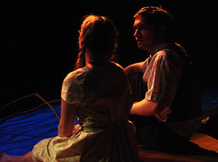 Jennie Mae Layman and C.C. Showers in The Diviners (Len Radin) Tags: face its theatre expression highschool communication emotional drama tension anxiety radin drury thespian northadams diviners dramateam jimleonard thediviners drurydrama