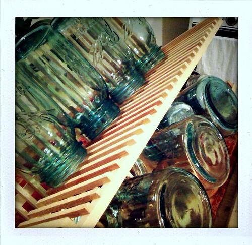 7 Aqua Mason Jars