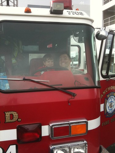 """driving"" the fire truck"