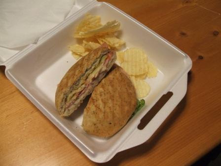 Ham and swiss panino