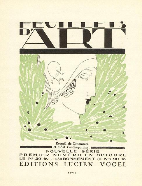 Feuillets d'Art, cover, 1919-1920