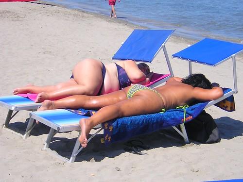 Sexy bbw on the beach
