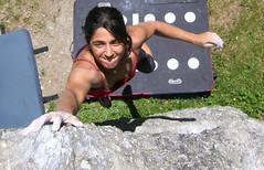 Levi Boulder Site#12 (lucapolu) Tags: italy mountain alps nature girl climb outdoor boulder climbing piemonte bouldering climber bould valdisusa exilles levibouldersite