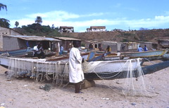 Fishing boats near Dakar, Sngal (West Africa) (gbaku) Tags: africa african afrika africain afrique africaine traditionalwoodenboats afrikas