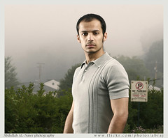 Foggy Morning - Western show poster (Abdullah AL-Naser) Tags: street portrait mist west fashion fog self canon virginia outfit interesting model republic shot foggy style banana neighborhood wv kuwait brand ef morgantown kuwaiti stylish q8 30d abdullah naser 2470mm  f28l q80     alnaser
