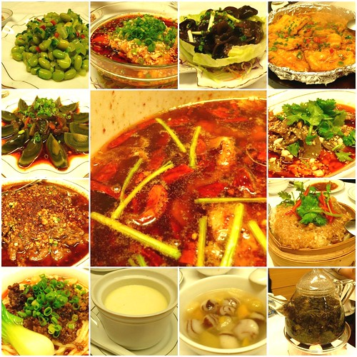 Chinese food in szechuan-style