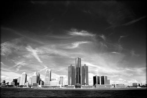 Detroit Skyline by Paul Hitz