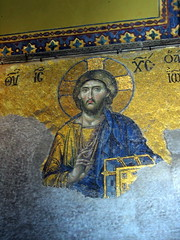 jesus in gold and blue (kexi) Tags: old blue june canon turkey gold christ jesus istanbul ayasofya
