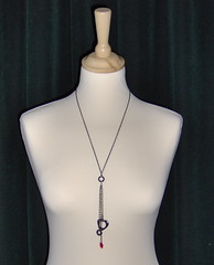 Black Chain Beaded Necklace (sunspark58) Tags: necklace jewellery handcrafted swarovski beaded accessory haematite