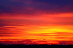 Sunset Over the Hill (lucianvenutian) Tags: sunset orange nature beautiful colorful purple horizon multicolored grandeur