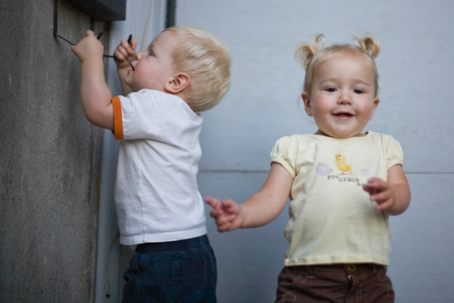 Young children need plenty of supervision, especially around residential garage doors