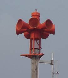 A tornado warning siren similar to the ones provided to the Town of Silver Lake.