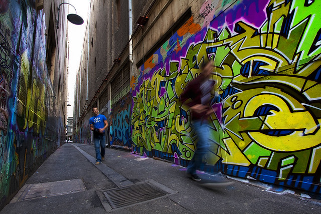 'A Colorful City', Australia, Melbourne, Alley Graffiti
