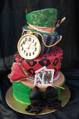Alice in wonderland (Deliciously Decadent (Taya)) Tags: party clock hat cake tea alice watch tie jacket bow mad wonderland wonky madhatter whimsical hatter topsy decadent turvy deliciously