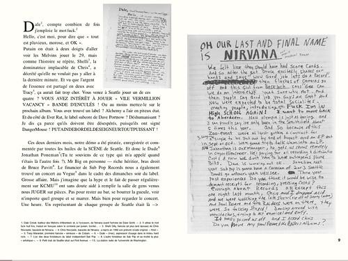 Journal intime de Kurt Cobain sur iPad
