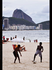 LET THE WORLD CUP BEGIN! (BoazImages) Tags: brazil playing game beach sports rio brasil football goal soccer documentary copacabana match fans worldcup excitment dejaneiro southafrica2010 boazimages