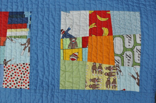 Daniel's Big-Boy Quilt - front detail