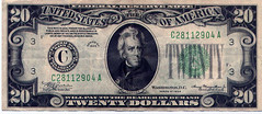 Did Dillinger touch this bill? (Charlie O'Hay) Tags: 20bill twentybucks mulenote1934c