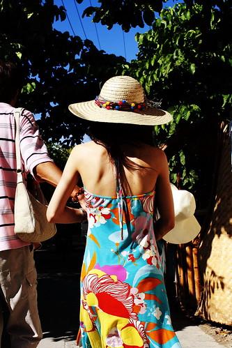 顏色很鮮豔的洋裝