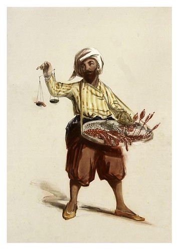012-Vendedor de dulces de Constantinopla-Sketches of character and costume in Constantinople 1854- Forbes Mac Bean