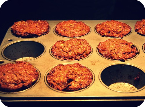 carrot muffins in pan