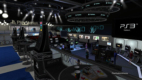 Sony Booth in PlayStation®Home - Above