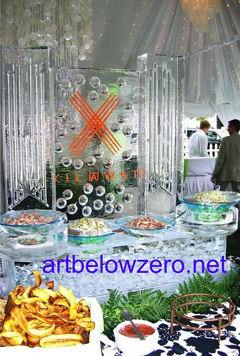 Kilawat's display ice sculpture