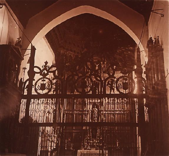 Reja del Convento de San Juan de la Penitencia en los años 20. Fotografía de Ángel del Campo Cerdán