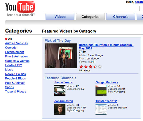 I was a YouTube Pick of the Day!