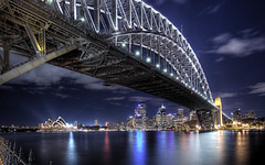 Sydney Harbour Bridge (Sarmu) Tags: city bridge light wallpaper urban building skyline architecture night skyscraper lights highresolution downtown cityscape view skyscrapers nightshot harbour dusk widescreen sydney australia landmark icon 1600 nsw highdefinition resolution newsouthwales 1200 moonlight cbd hd wallpapers iconic harbourbridge 1920 vantage 2007 sydneyoperahouse sydneyharbourbridge vantagepoint kirribilli ws 1080 1050 720p 1080p urbanity portjackson 1680 720 2560 sarmu