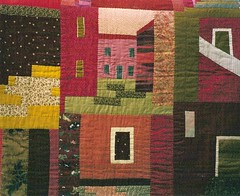 """Genova, forse ..."" dtail (manu/manuela) Tags: houses windows streets art doors village quilt textile quilting blocks patchwork bloc manuela fabrics handquilted quiltmain"