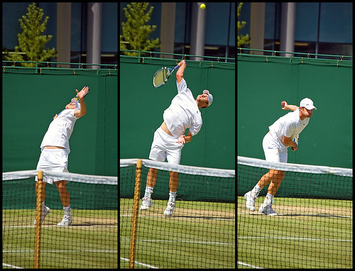 Roddick Tennis Serve Andy Roddick Serving at
