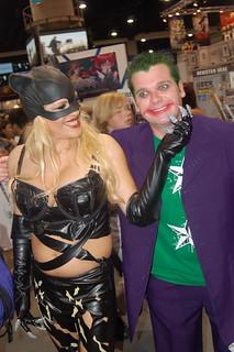 comic con 2007: Cat Woman and Joker