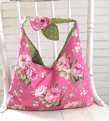 Flea Market Bag pink (Tanya Whelan) Tags: bag pattern market sewing flea handbag